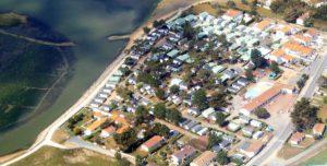 vue aérienne du camping les violettes