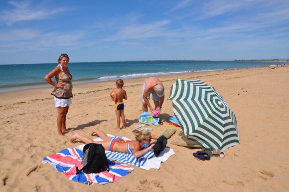 La plage en famille