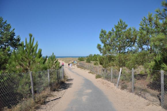accès à la plage de la Faute sur mer