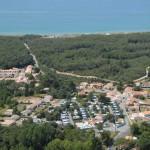 vue aérienne Camping la Frétille près de la Tranche sur mer