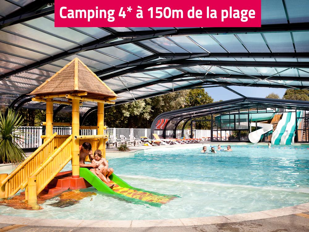 Camping le petit rocher 4 toiles pr s de la tranche sur mer for Petit camping familial avec piscine
