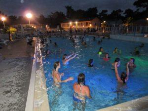 piscine nocturne la tranche sur mer